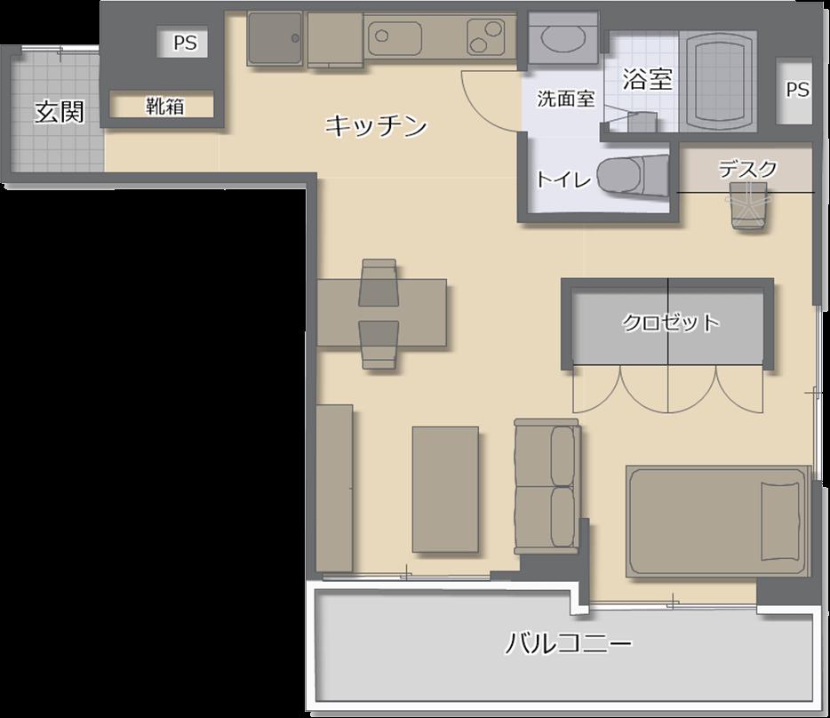 東武ハイライン大門 503 間取りイメージ